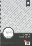 Standard A4 Feint Ruled Spiral Notebook